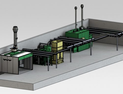 Manual Powder Coating Line with Overhead Rail System